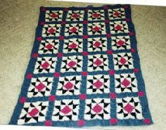 Evening star afghan