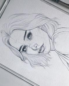 Amykour: Esquisse sur Fabri Amykour : Sketch on Fabriano Artistico cotton Pencil Pentel Graphgear Amykour: Croquis sur Fabriano Artistico coton Pencil Pentel Graphgear 1000 ______________________________________________ Merci au crayon dessin au crayon Pencil Art Drawings, Art Drawings Sketches, Cute Drawings, Girl Pencil Drawing, Tumblr Sketches, Realistic Drawings, Drawing Faces, Sketch Art, Arte Sketchbook