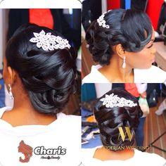 Nigerian wedding black bridal hair ideas and inspiration 27