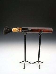 This is a brush of bamboo and horsehair made for the Peters Valley Faculty Show - Brush art l AIF
