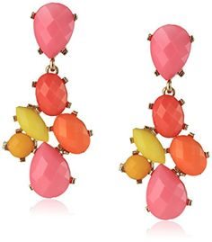 Opaque Faceted Bead Drop Earrings
