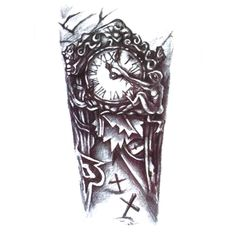 UneTattoo QS-A030 Temporary Tattoo Arm Tattoo 15*21 CM
