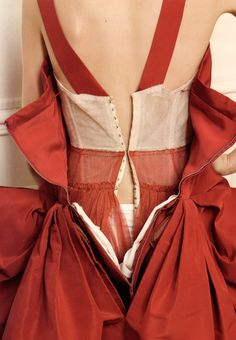 The mark of a well made garment- the base structure. Christian Dior