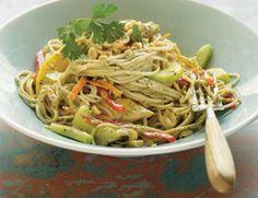 soba noodle salad w/ ginger peanut dressing