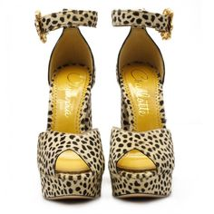 Chantale cheetah leather sandals (91500 RSD) ❤ liked on Polyvore featuring shoes and sandals