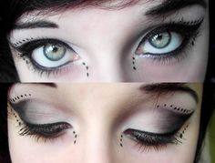 Like the dots around her eyes