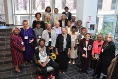Mercy Douglass School of Nursing alumni pose after being recognized by the Barbara Bates Center for the Study of the History of Nursing.- PHOTO BY I. GEORGE BILYK