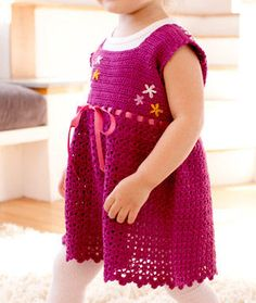 Cute Crochet dress. - free crochet pattern