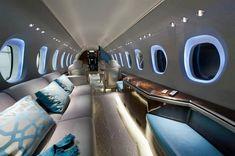 Private jet interior. #luxuryprivatejet