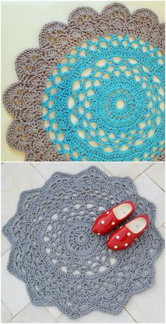 You will love these Giant Crochet Doily Rug Free Patterns nd we have a video tutorial to show you how. Crochet Circle Pattern, Crochet Doily Rug, Crochet Carpet, Baby Afghan Crochet, Crochet Circles, Crochet Doily Patterns, Crochet Home, Crochet Crafts, Crochet Projects