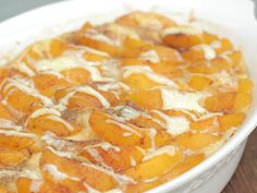 Jazz up traditional French toast with sweet peaches and heavy cream in this make-ahead breakfast casserole dish. It's perfect for holiday...