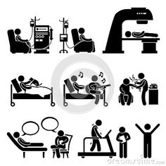 https://thumbs.dreamstime.com/x/hospital-medical-therapy-treatment-cliparts-set-human-pictograms-representing-patient-dialysis-chemotherapy-radiation-39589122.jpg