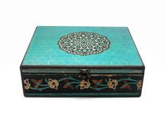 30cm x25cm x 9cm-Beautiful Wooden Hand Made Accessories Box with Decoupage Technic-DBP-30x25-05