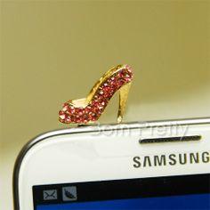 Cute high heel dust plug! Use my code AAX31 to save 10%  @BornPrettyStore, Rhinestone Studded Anti Dust Plug Cute Shoe E... at $3.66. http://www.bornprettystore.com/-p-15232.html