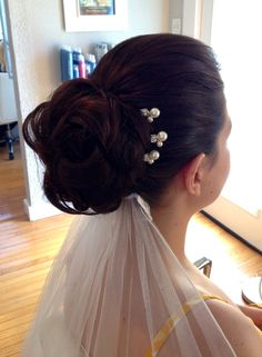 Classic all up wedding hair