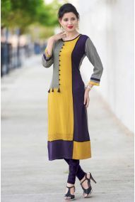 Wholesale Printed Office Wear 14 Kg Rayon Straight Kurti Collection | Wholesale Supplier Of Kurtis