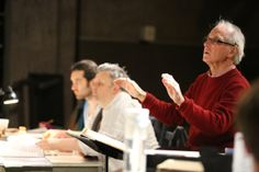 Here's Steuart Bedford rehearsing The Rape of Lucretia.  © Royal Academy of Music, May 2014