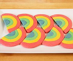 End-o'-the-Rainbow Cookies: Colorful and sweet, these lucky rainbows make for a delicious St. Patrick's Day treat.