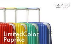 "CARGO airtrans(カーゴエアートランス)スーツケース 限定色 ""Paprika"" シリーズ! 色とりどりの発色鮮やかなキャリーで旅をお楽しみください♪ http://www.trio1971.com/cargoair_info/newcolor.html"