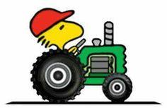 Woodstock on tractor.                                                       …