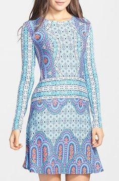 Lovely Clusters Shop: BCBGMAXAZRIA 'Jeanna' Print Jersey Fit & Flare Dress