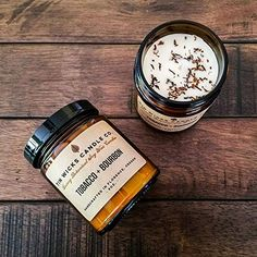 Tobacco + Bourbon || 9oz. Luxury Botanical Soy Wax Amber Glass Jar Candle || Tin Wicks Candle Co.