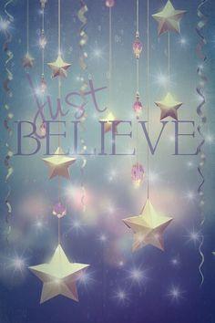 Believe phone wallpaper