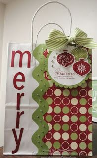 Stampin' & Scrappin' with Stasia: Holiday Gift Bag