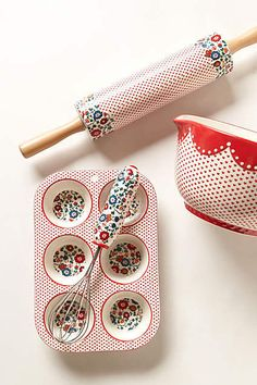 Filomena Baking Collection - polka dots - red and white - so cute!