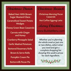 Planning your Christmas menu just got a whole lot easier! @BuildaMenu