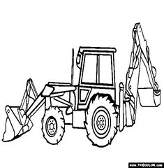 Free Trucks Coloring Pages Color In This Picture Of An Backhoe Loader And Others With Our Library Online Save Them Send