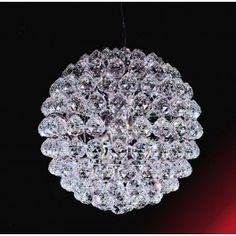 7 lights crystal chandelier in polished chrome finish