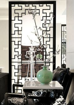 Chinese style screen- I LOVE Asian screens, so versatile!!