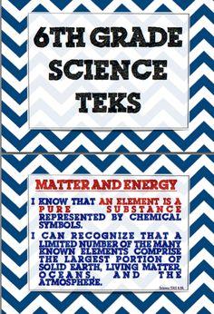Texas Middle School 6th Grade Science TEKS