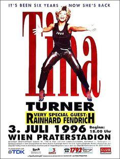 1996 Tina Turner 'Wildest Dreams' Concert Poster (Vienna, Austria)