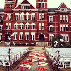The Set-Up for a Beautiful Samford Lawn Wedding! Auburn, AL
