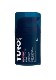 Turo Regenerating Night Cream renews, rejuvenates and hydrates all overnight!     This ultra-rich cream contains encapsulated retinol and potent actives to minimize fine lines and wrinkles.  Helps improve skin's texture, tone and brown spots.     Powerful ingredients help repair sun damage. Find Turo skincare for men at Skinbarn.com