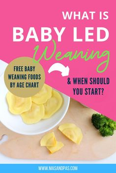 Looking for some easy and healthy meal inspiration for baby-led weaning or finger foods for toddlers? Here are some super easy baby led weaning first foods to start feeding your baby solid foods at 6 months old. Get started with baby led weaning and feeding your new baby. We break down baby led weaning foods by age and show which foods are the most appropriate for baby at each weaning stage, and which you should avoid altogether. #babyledweaning #babyledweaningideas