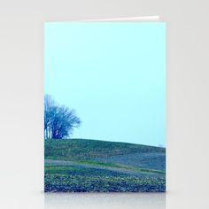 Rolling Land Blue by LisaCarlene Designs for sale @society6. Set of folded stationery cards printed on bright white, smooth card stock to bring your personal artistic style to everyday correspondence.  Each card is blank on the inside and includes a soft white, European fold envelope for mailing.