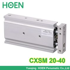 CXSM20-40 High quality double acting dual rod air pneumatic cylinder CXSM 20-40 20mm bore 40mm stroke with slide bearing #Affiliate