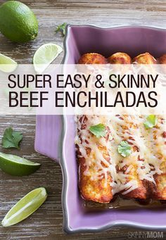 This is one of the quickest dishes and tastes absolutely fabulous! You MUST try our beef enchiladas out for a healthy dinner tonight!