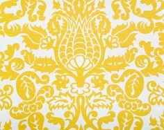 Bodega, Yellow 100% slubbed cotton #fabric #drapery #upholstery
