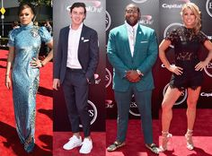 See which athletes and celebrities looked hot (or not) on the red carpet
