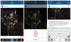 Flowerona Tips : How to edit the caption of an existing Instagram post | Flowerona