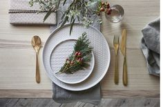 Serve your holiday meals with tableware from the IKEA Vinter collection. All plates are dishwasher safe, and include Icelandic knit and fishbone patterns.