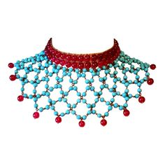 Maison Gripoix for Chanel 1950s | From a unique collection of vintage beaded necklaces at https://www.1stdibs.com/jewelry/necklaces/beaded-necklaces/