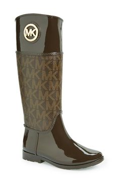Free shipping and returns on MICHAEL Michael Kors 'Stockard' Rain Boot (Women) at Nordstrom.com. Monogram print and a polished logo medallion add unmistakable signature flair to a sleek, splash-ready rain boot.