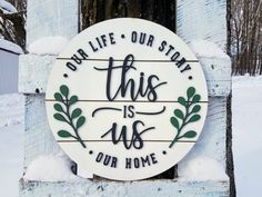 This is Us Round Shiplap Sign - Our Life Our Story Our Home sign, This is Us Round Shiplap Sign Woodworking Garage, Woodworking For Kids, Woodworking Joints, Woodworking Workshop, Woodworking Techniques, Woodworking Furniture, Woodworking Crafts, Woodworking Beginner, Woodworking Organization