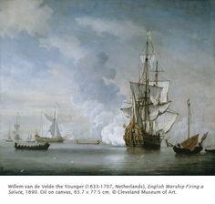 Willem van de Velde the Younger - English Warship Firing a Salute