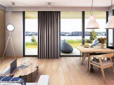 Projekt domu Malutki dr-S 79,48 m2 - koszt budowy 199 tys. zł - EXTRADOM Modern Barn House, Loft, Architect House, House In The Woods, Scandinavian Style, Tiny House, Backyard, Construction, Cabin